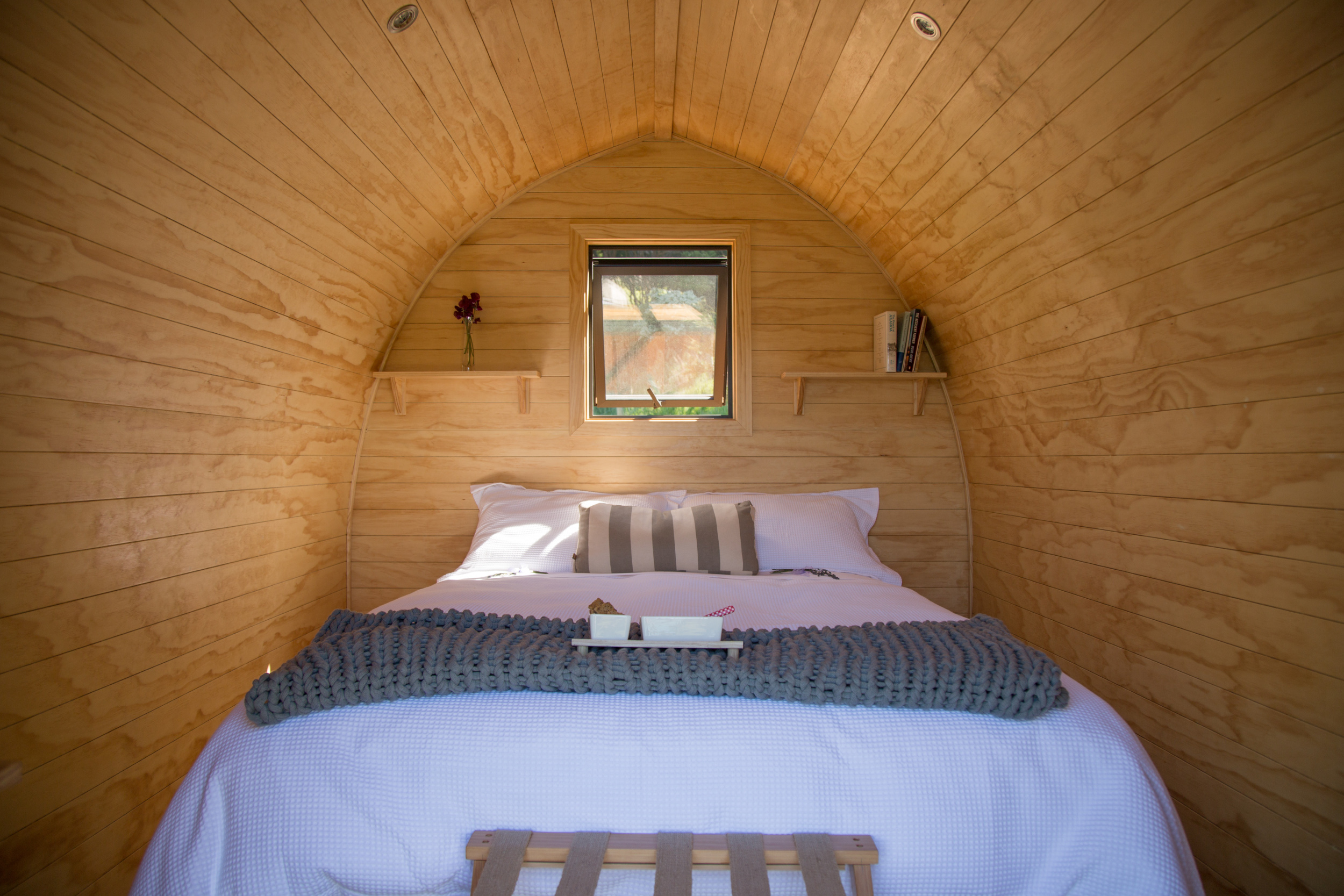 The bedroom of a Tu Wepu Intrepid Pod.
