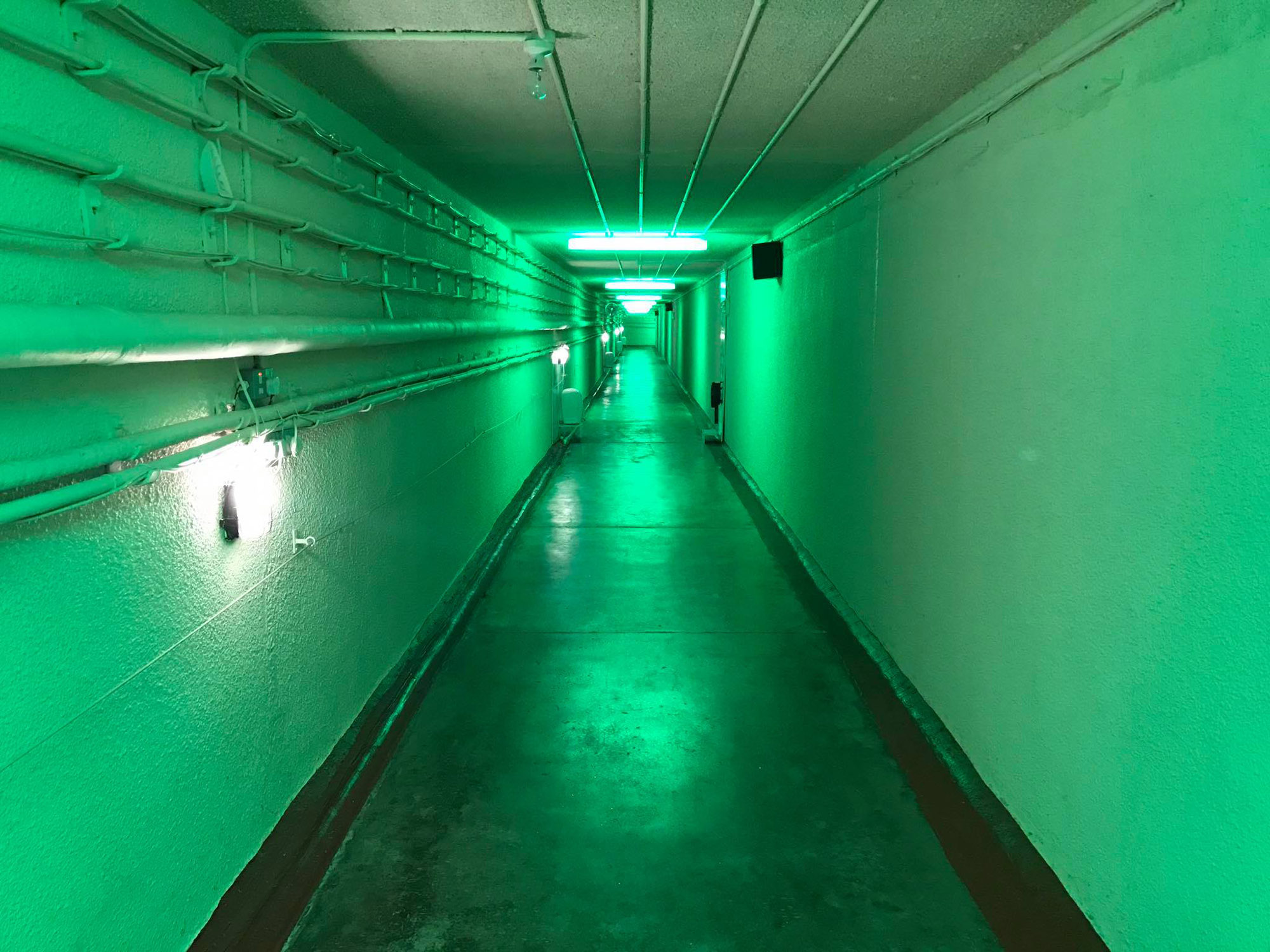 A corridor in the nuclear bunker