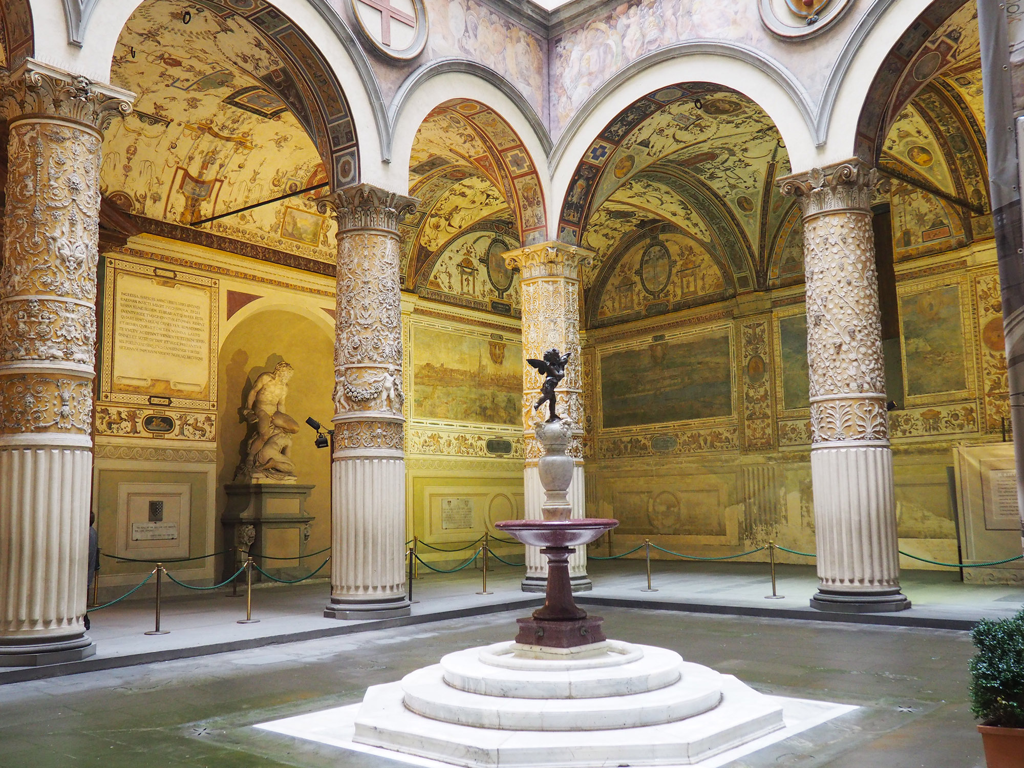 Decorated interior of the Palazzo Vecchio in Florence