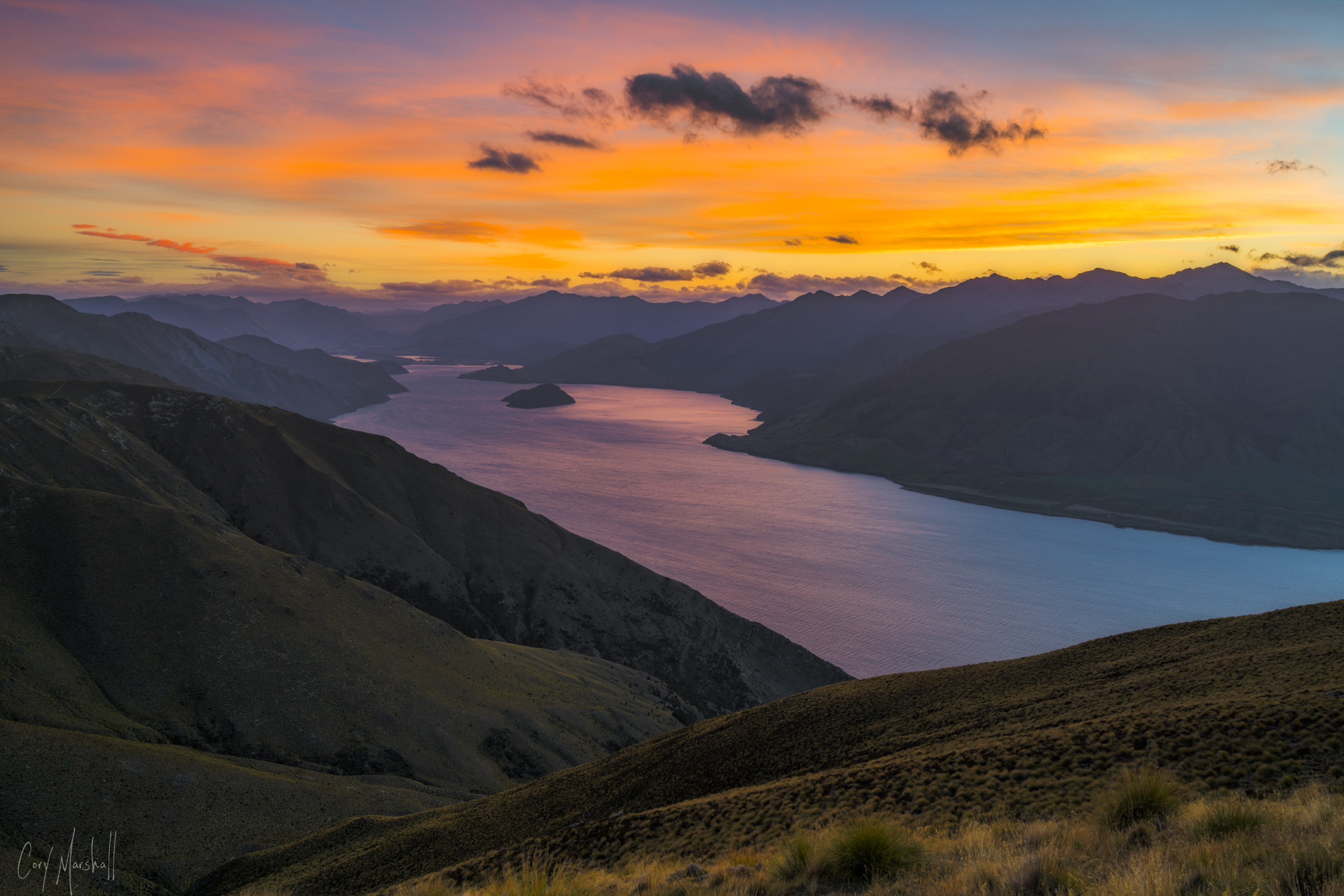 Isthmus Peak in Wanaka, New Zealand.