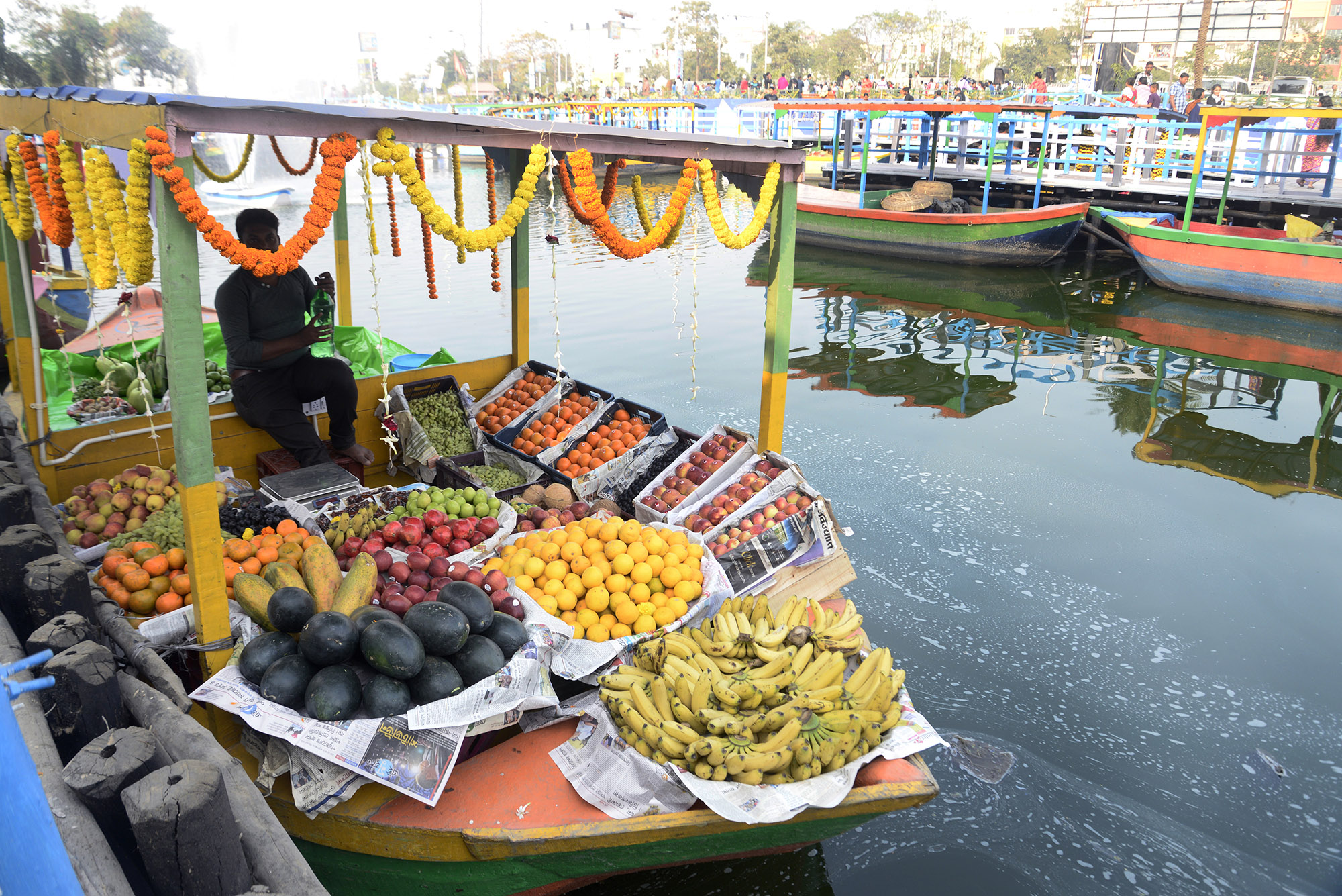 India's first floating market opened in January