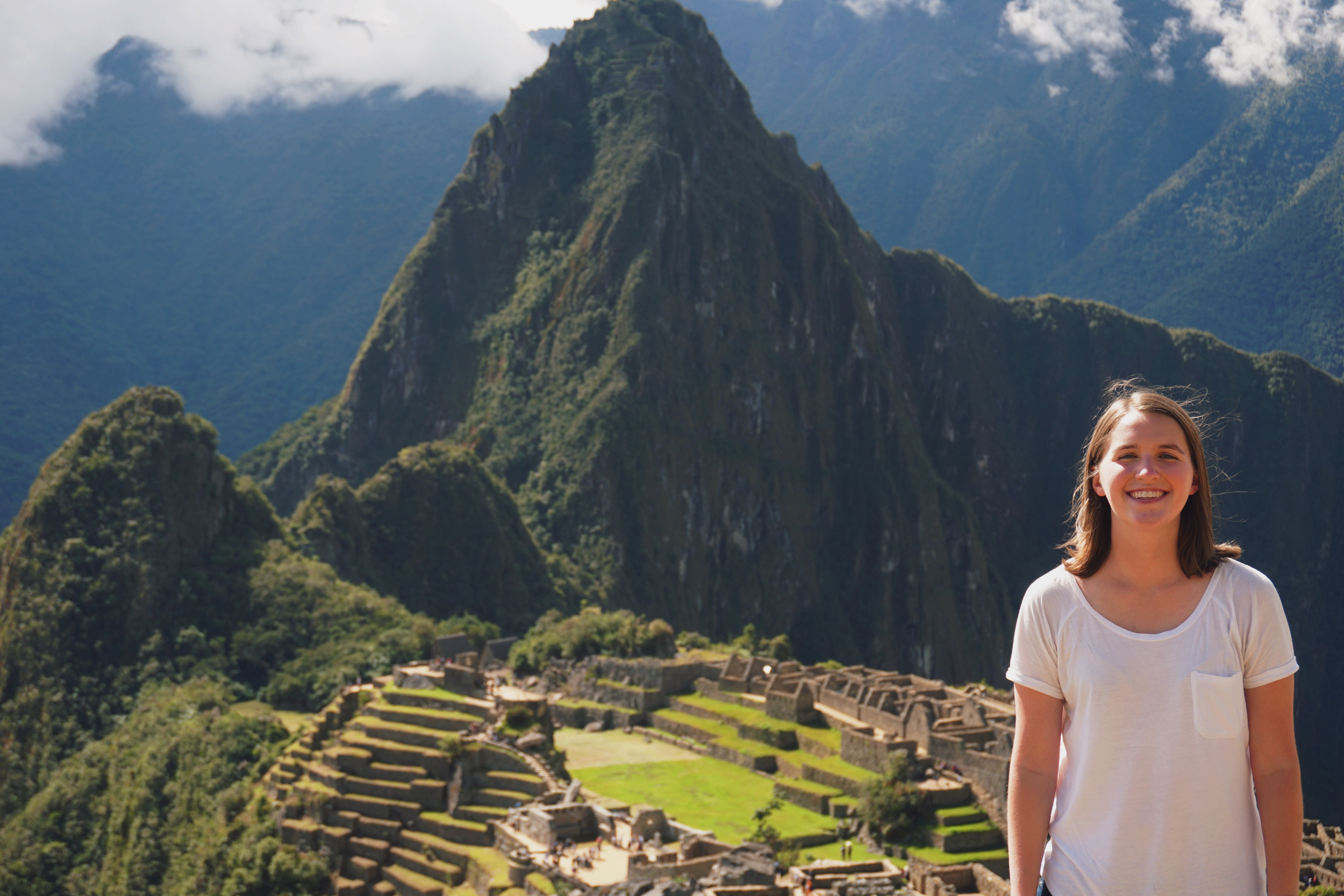 Taylor at Machu Picchu in Peru.
