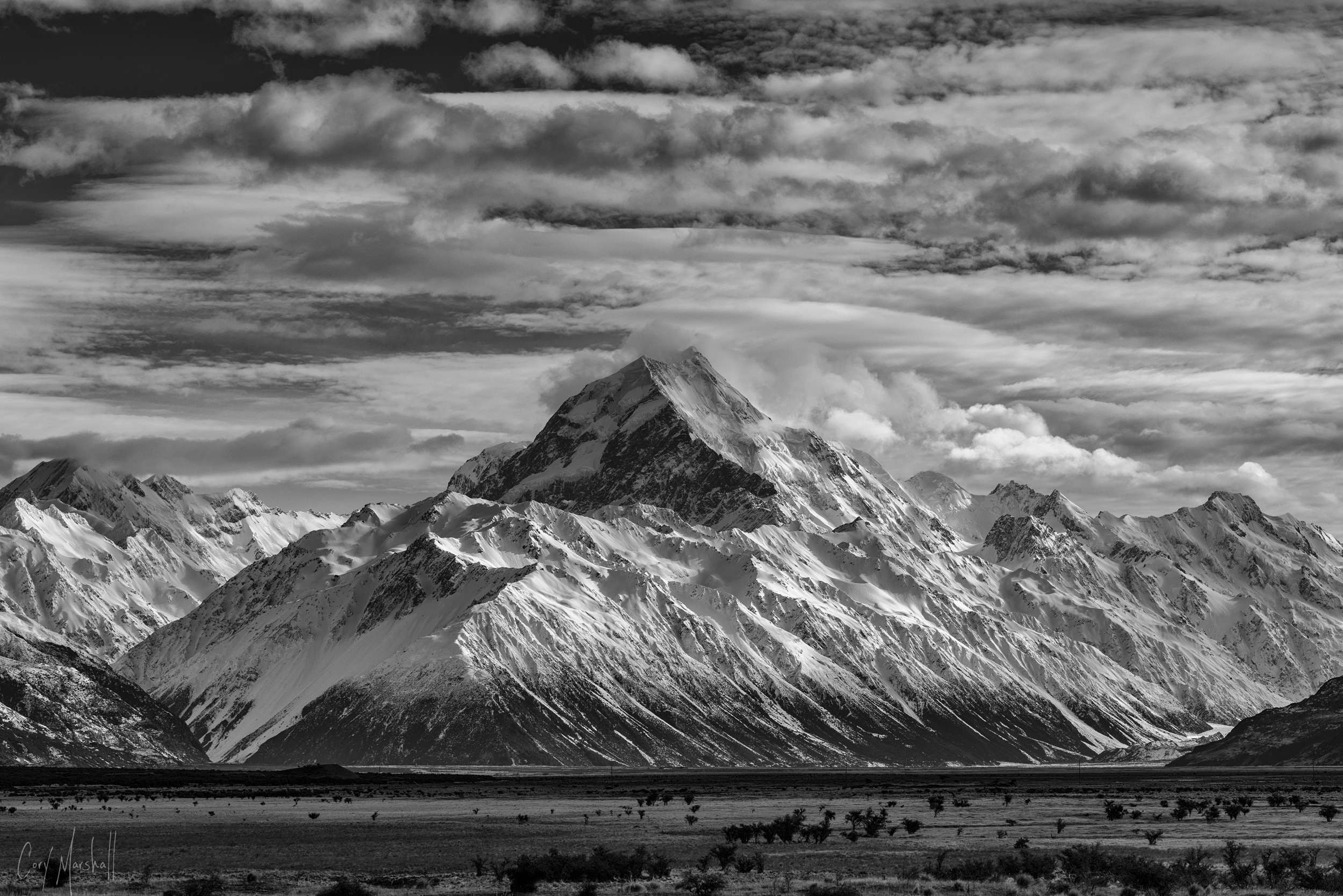 Aoraki / Mount Cook in New Zealand.
