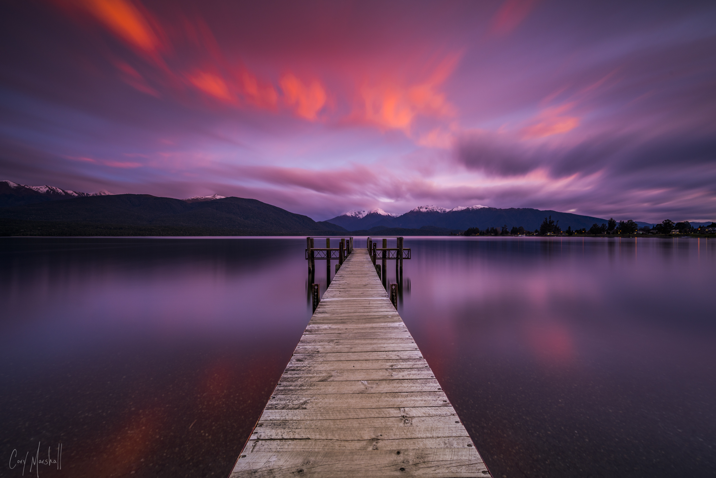 Te Anau Pier in New Zealand.