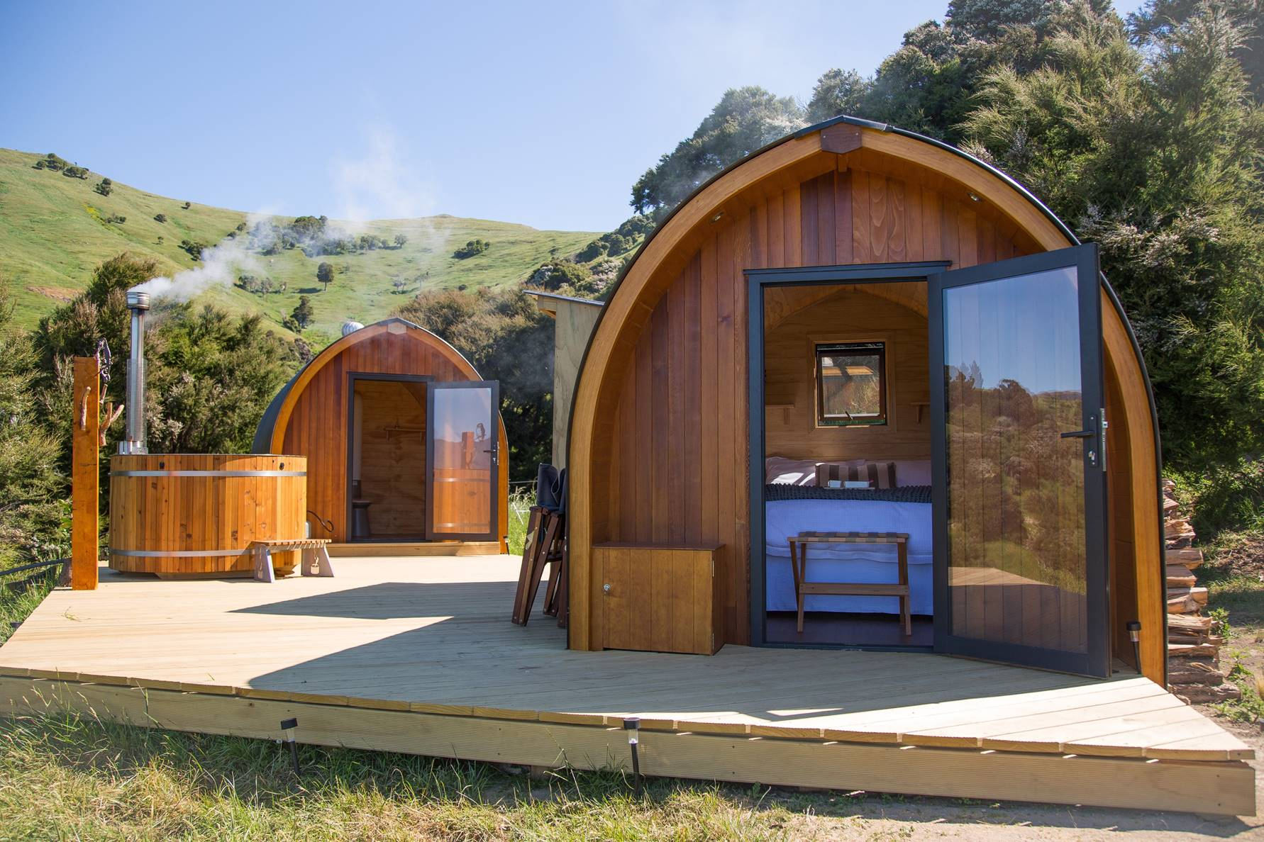 Tu Wepu Intrepid Pods have been hand crafted in New Zealand.