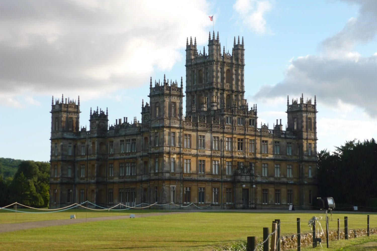 The exterior of Highclere Castle in north Hampshire